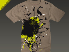 Birds And Splatter T-Shirt Design by