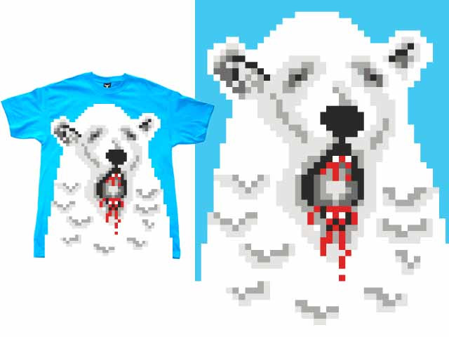 Pixel Polar Bear