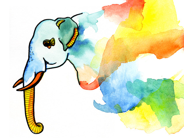 Elephant Illustrated