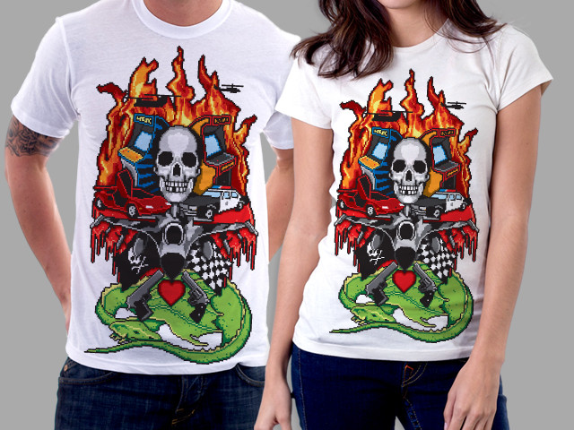 The World's most epic video game t-shirt