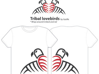 Tribal lovebirds by gasille