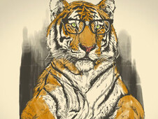 Smart Tiger T-Shirt Design by