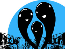 Ghosts in the City T-Shirt Design by