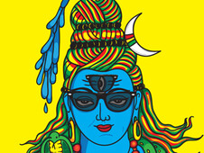 Shiva with Rayban T-Shirt Design by