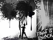 Paint it Black!!! T-Shirt Design by