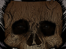 skull-wood-mask T-Shirt Design by