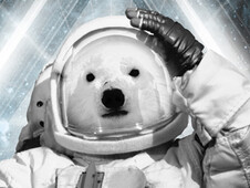 Polar Bears in Space T-Shirt Design by