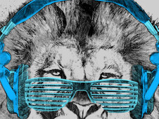 Shady Lion T-Shirt Design by