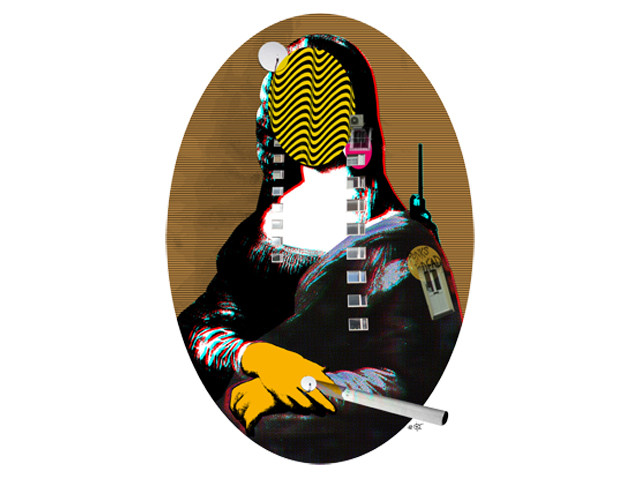 Mona Lisa StreetPopArt - Gold Version