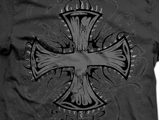 Dark spiky cross T-Shirt Design by