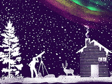 Seeing The Northern Lights T-Shirt Design by