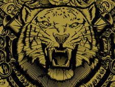 Furious tiger T-Shirt Design by