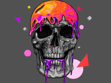 liquid skull T-Shirt Design by