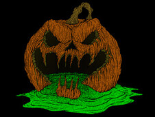 Puking Pumpkin T-Shirt Design by