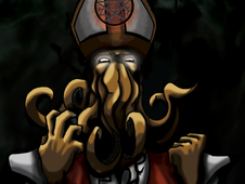 H. P. Lovecraft's Elder Pope T-Shirt Design by