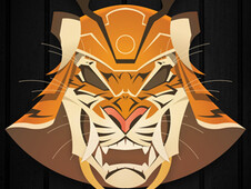 Samurai Tiger Mask T-Shirt Design by