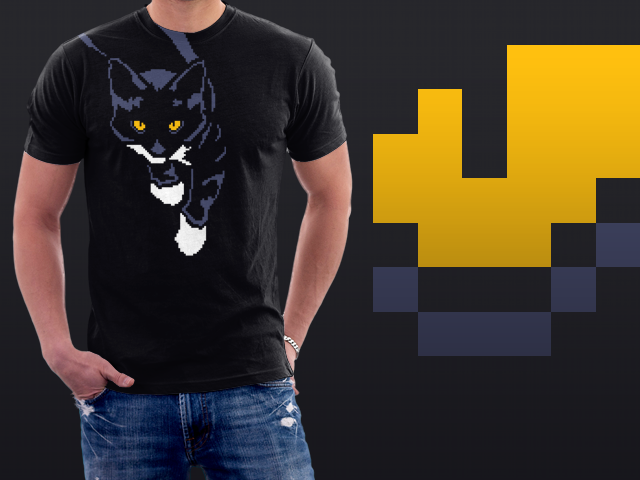 8-bit shoulder cat