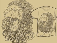 King of The Jungle T-Shirt Design by