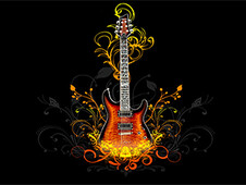 Guiter T-Shirt Design by