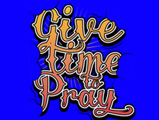 Give Time to Pray T-Shirt Design by