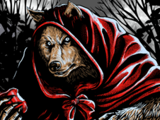 -=LITTLE RED WOLF=- T-Shirt Design by