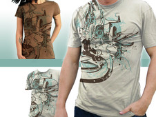 Unity through the Flow of Art T-Shirt Design by
