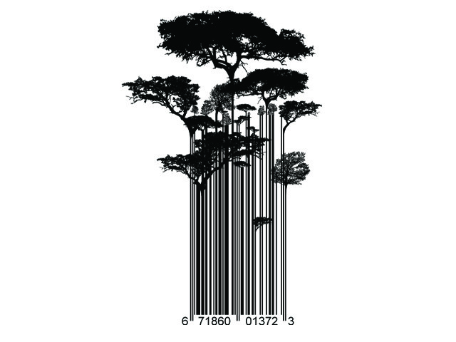 Street Art Barcode Trees