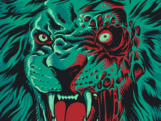 Zombie Lion T-Shirt Design by