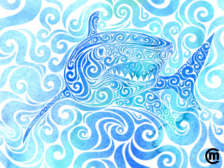 Swirly Shark by VectorInk