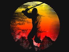 -=Sunset Warrior=- T-Shirt Design by