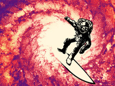 Astro surf T-Shirt Design by