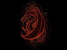 Ember Serpent T-Shirt Design by