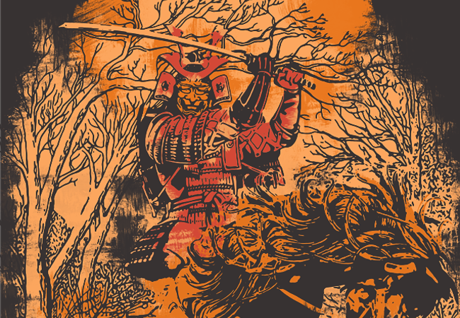 SAMURAI IN FLAMES