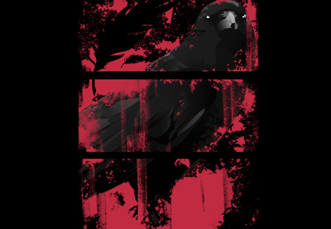 Crow Black and Red