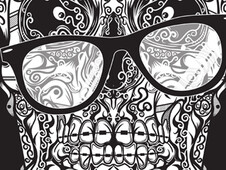 Urban Skull T-Shirt Design by