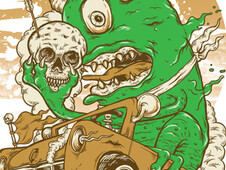 monster truck T-Shirt Design by