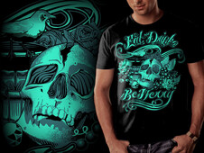 Eat, Drink, Be Merry T-Shirt Design by