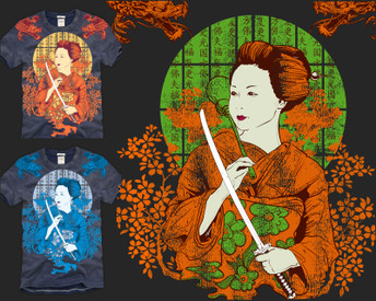 Japanese Autumn by tshirtfactory