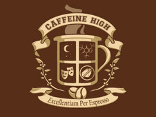 Caffeine High T-Shirt Design by
