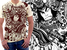 Samurai Dance T-Shirt Design by