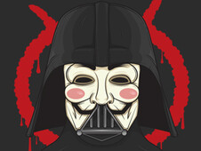 V for Vader T-Shirt Design by