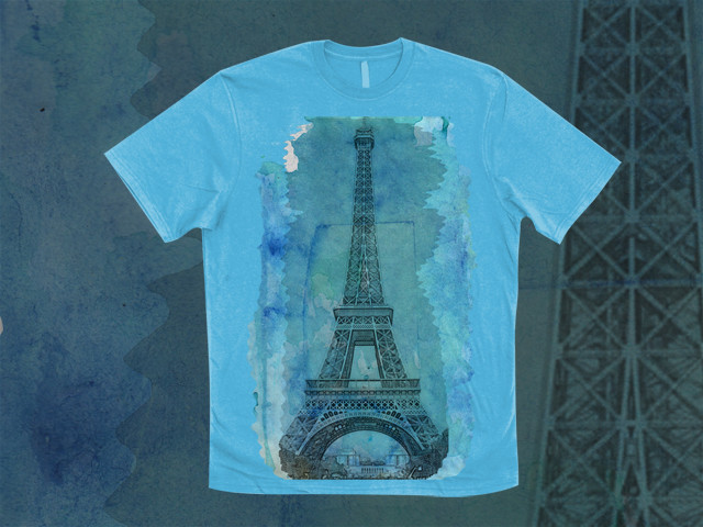watercolor eiffel