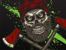 Killer Lumberjack! T-Shirt Design by