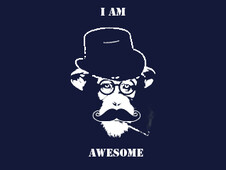 awesome moustache T-Shirt Design by