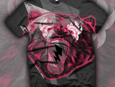 Thrillin' Bear T-Shirt Design by
