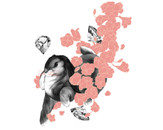 Bounding Bunny through Flowers and Gems by foundmyfrisbee