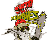 santa VS zombies T-Shirt Design by