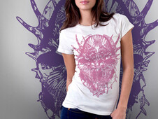 Shell made skull T-Shirt Design by