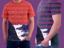 Stripes & Snow T-Shirt Design by
