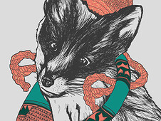 Foxy Knit Tunes T-Shirt Design by